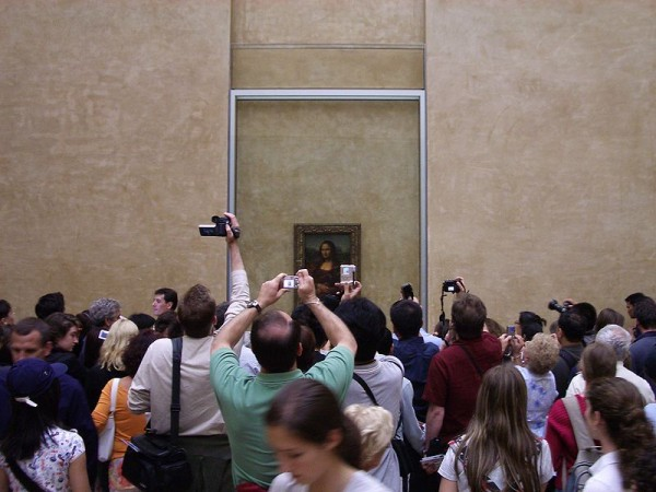 What have you done. You have taken a picture of the Mona Lisa. Think about your life. Think about your choices. (From Sergey Meniailenko)