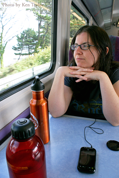 This quickly became our quintessential 'traveling through the UK' image. We took a lot of trains, okay?
