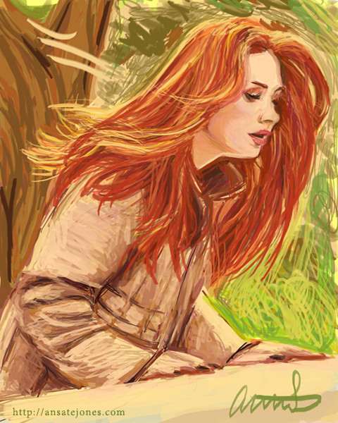 Karen Gillan as Amy Pond from Doctor Who. Reference courtesy of BBC.